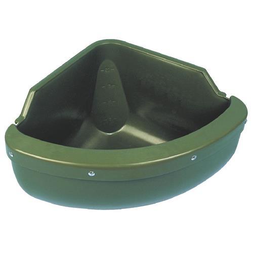 Plastový rohový žlab s hranou 30 l, zelený Plastový rohový žlab s hranou 30 l, zelený