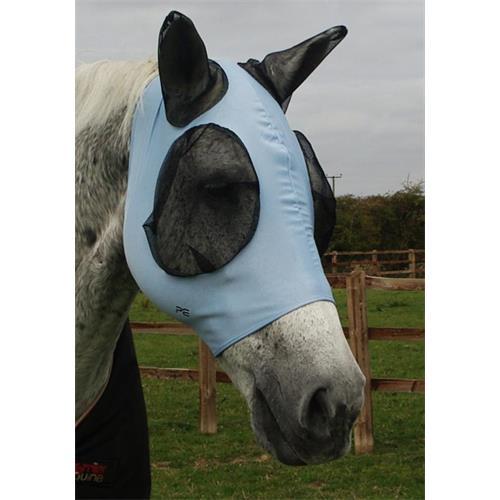 Elastická maska na uši Premier Equine, modrá - vel. Cob Maska elastická Premier, modrá, vel. Cob