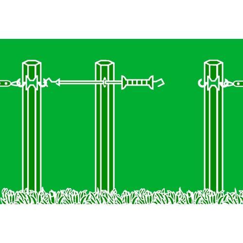 Vchod do ohrady pro elektrické ohradníky s gumou - 3 - 6 m Vchod do ohrady pro elektrické ohradníky s gumou E-line, 3-6 m