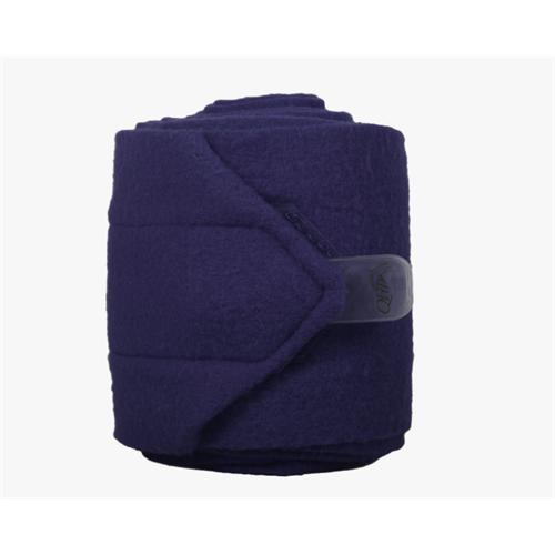 Fleesové bandáže QHP, 12 cm x 300 cm - tmavě modré Bandáže fleesové, QHP, modré, 3m