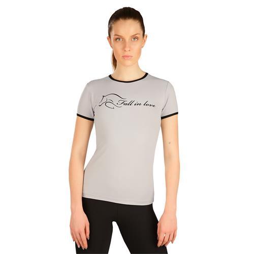 Dámské triko Litex, šedé s nápisem - vel. M Triko dámské LITEX, šedé s nápisem, vel. M