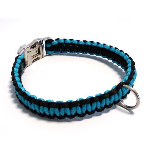 Paracord obojek pro psy, modrý - 40 cm Paracord barva modrý modrý střed.