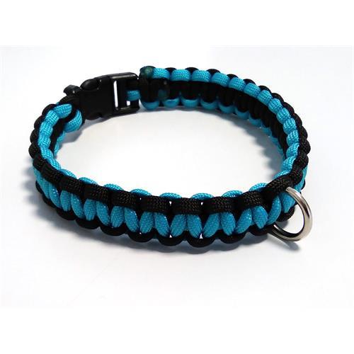 Paracord obojek pro psy, modrý - 30 cm Paracord barva modrý modrý střed.