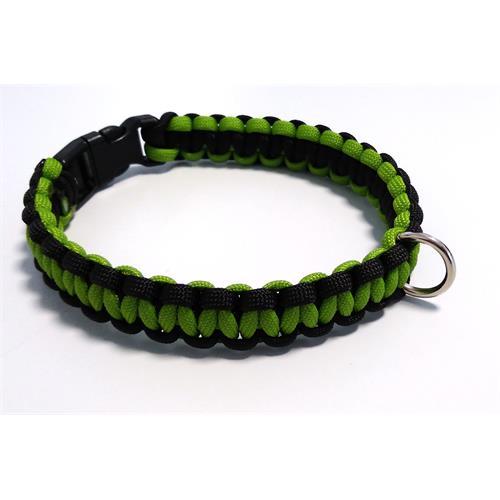 Paracord obojek pro psy, zelený - 30 cm Paracord barva zelený zelený střed.