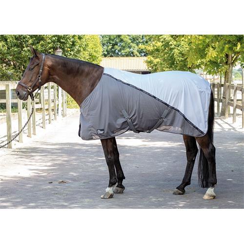 Deka proti hmyzu Harrys Horse Mash, bílo-šedá - vel. 85 cm Deka letní HH Mesh Pro Decke, bílo-š., vel. 85cm