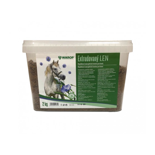 Doplňkové krmivo Mikrop extrudovaný len - 2 kg Doplňkové krmivo Mikrop extrudovaný len, 2 kg