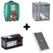 Zdroj pro elektrická hrazení AKO MP AN 5500, kombinovaný, výkon  4,8 J + solární panel 45 W + akumulátor 70 Ah + kovová schránka