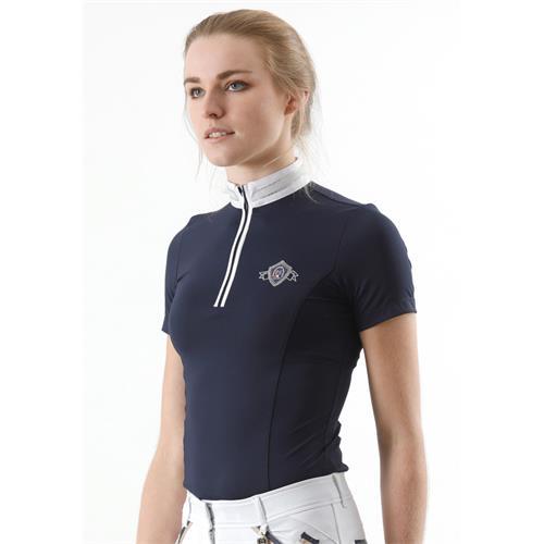 Závodní jezdecké triko Premier Equine Maria - modré, vel. XS Triko závodní Premier Equine Maria, modré, vel. XS