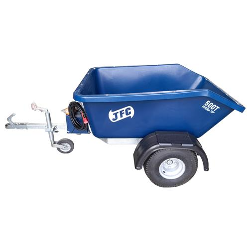 Hydraulický výklopný dvoukolový vozík za čtyřkolku 500 l Hydraulický výklopný dvoukolový vozík za čtyřkolku 500 l