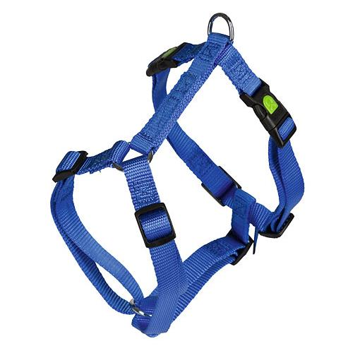 Postroj na psa, modrý - 55 - 76 cm Postroj pro psy, nylon, modrý, 55-76 cm