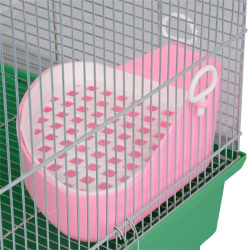 Záchod pro fretky a králíky s roštem 24 x 18 x 10 cm - WC, mix barev Záchod pro fretky a králíky s roštem, růžový - upevnění na klec.