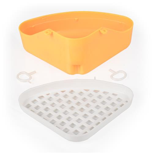 Záchod pro fretky a králíky s roštem 24 x 18 x 10 cm - WC, mix barev Záchod pro fretky a králíky s roštem, žlutý.