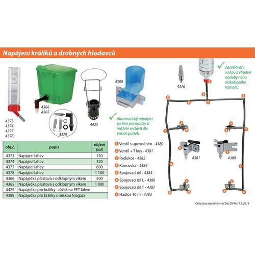 Redukce či spojovací díl 9 mm - 2 kusy pro napájecí systém pro králíky Redukce či spojovací díl 9 mm - 2 kusy pro napájecí systém pro králíky