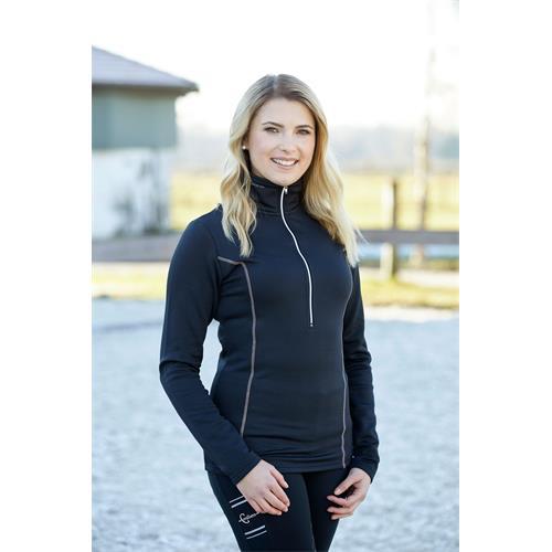 Funkční dámské triko Covalliero Olivia, černé - vel. M Triko dámské Cov. Olivia s dl. ruk., černé, vel. M