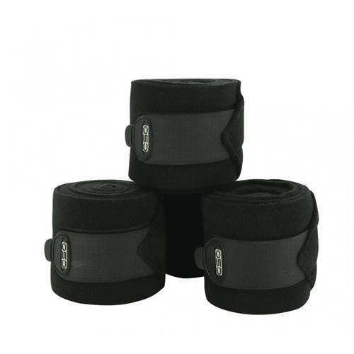 Fleesové bandáže Equi-Theme, 11cm x 3m - černé Bandáže fleesové Ekkia, černé, 11cmx3m