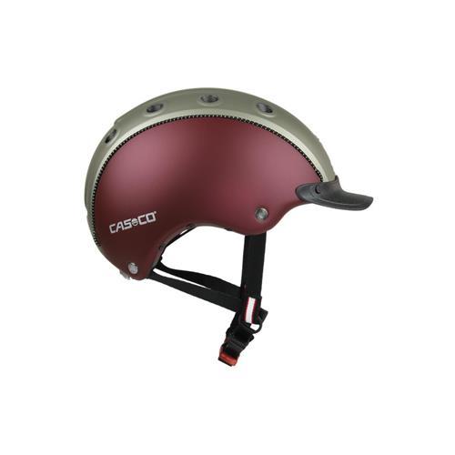 Jezdecká přilba Casco Choice - šedo-vínová, vel. 52-56 Přilba jezdecká CASCO Choice Turnier, šedo-vínová
