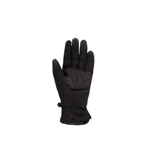 Dětské zimní fleecové rukavice Horze, černé - 10 let Rukavice dětské zimní, flees, černé