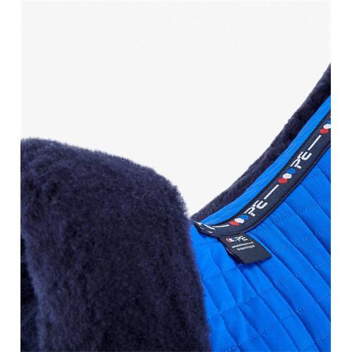 Podsedlová dečka Premier Equine, s Merino beránkem - královská modrá s modrým beránke Dečka podsedl. Premier Equine, král. modrá s modr.