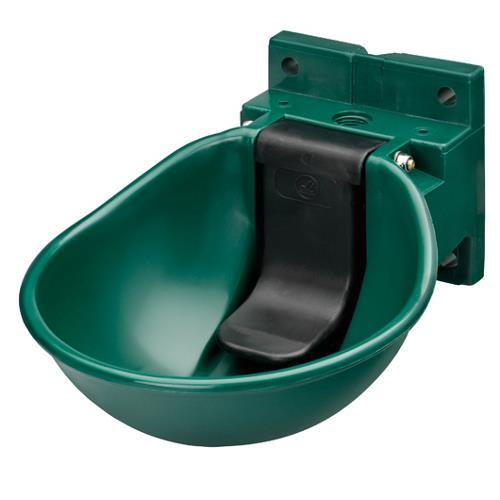 Napáječka misková plastová SB 1 -  pro koně, zelená, s pojistkou - SLEVA Napáječka misková plastová SB 1 -  pro koně, zelená, s pojistkou