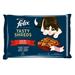 Felix Tasty Shreds lahodný výběr ve šťávě - hovězí a kuře 4×80 g Kapsička pro kočky Felix šťáva hovězí+kuře 4 x 80 g.