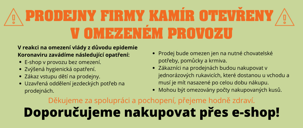 Omezení provozu prodejen KAMÍR a Co. spol. s r.o.  v rámci mimořádných opatření proti šíření Koronaviru